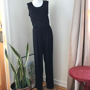 Vintage Nine 2 Nine Black Jumpsuit Glitter Top